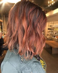 auburn balayage highlight hair color