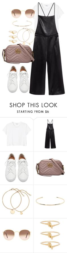 """Untitled #4018"" by theeuropeancloset ❤ liked on Polyvore featuring Monki, Loeffler Randall, Gucci, Jennifer Fisher, Ray-Ban and Cast of Vices"