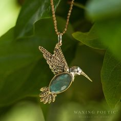 Fly lightly. Waxing Poetic Sterling Silver jewelry available at The Cedar Chest in Wimberley, Texas.