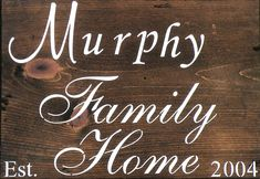 Family Home Personalized Rustic Wood Stain Sign, Espresso Brown Stain Custom Name Date Established Sign, Housewarming Gift Sign, Rustic Sign
