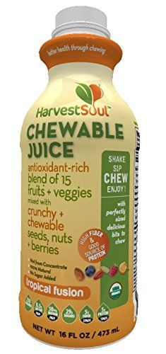 Harvest Soul Tropical Fusion Chewable Juice, 12 Fluid Ounce (single bottle) -- Check this awesome product by going to the link at the image.  This link participates in Amazon Service LLC Associates Program, a program designed to let participant earn advertising fees by advertising and linking to Amazon.com.