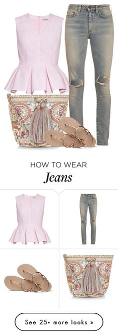 """CANDY MOMENT"" by ele88na on Polyvore featuring Accessorize, Balenciaga, Yves Saint Laurent and Havaianas"