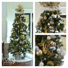 Our Gold and White Christmas Tree | A Pop of Pretty: Canadian Decorating Blog | Finding the pretty in an every day home | Affordable home decor ideas tips tutorials inspiration |St Johns NL