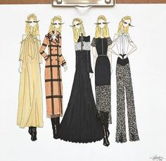 Pre-fall 2016 illustrated by @esquissed