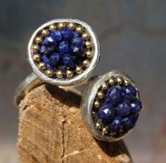 Baby won't get no blues here. Blue sapphire harlequin ring  $590.00