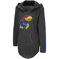 Tune into gameday style with this women's Kansas Jayhawks hooded tunic from Campus Heritage. Kansas Jayhawks, Hoods, Tunic, V Neck, Sweatshirts, Sweaters, Clothes, Women, Style