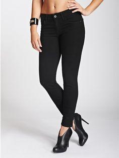 GUESS Women's Sophia Mid-Rise Curvy Skinny Jeans in Black