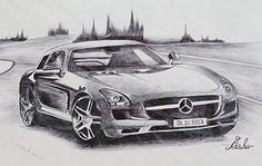 Car Drawing With pen By Kalabhumi Arts Students