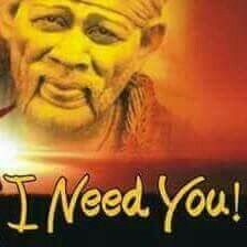 i really mean it baba!!! i need you with me SAI every single second.