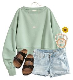 """""""Going to a Teen Weekend in Gainesville"""" by flroasburn ❤ liked on Polyvore featuring H&M, Kendra Scott, Aid Through Trade and Birkenstock"""