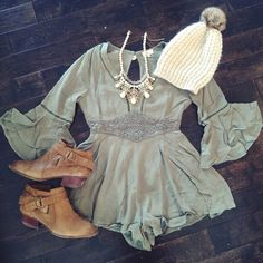 Darling Olive Romper ✌️ Super cute... Seriously the cutest romper I've ever seen. DO NOT BUY THIS LISTING I WILL MAKE U ANOTHER! ️price fairly firm . Bundle to save even more! No trades. Thanks for helping me become a suggested user:) Tea n Cup Dresses
