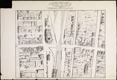 Birds eye pictorial representation of the area showing the proposed Horseshoe Bridge in William St (then known as Hutt St) and its relation to the surrounding streets and buildings. Wa Gov, Western Australia, Wild West, Perth, Buses, Trains, Westerns, Maps, History