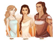 Tyene, Nymeria, and Obara Sand (A Song of Ice and Fire)