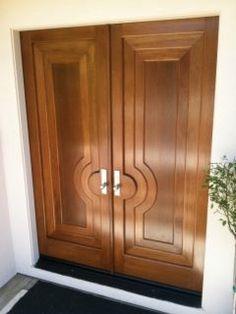 Door Photos - modern - front doors - Door Beautiful Door Design Interior, Wooden Front Door Design, Entrance Doors, Double Door Entryway, Wooden Glass Door, Door Glass Design