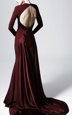 Zac Posen Open Back Evening Gown