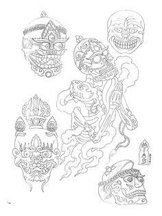 Paradise Tattoo, Gangsta's Paradise, Tibet Tattoo, Tibet Art, Oriental Tattoo, Buddhist Art, Irezumi, Design Show, Indian Art