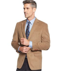 Lauren Ralph Lauren Big and Tall Elbow Patch Corduroy Sport Coat