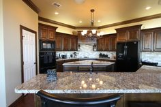 Gorgeous kitchen  www.johnjohnsoncustomhomes.com