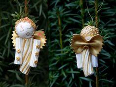 Weihnachtsbaumschmuck - selbstgemacht  - Weihnachten, Weihnachtsschmuck, Baumschmuck, Christbaumschmuck, Brauchtum, Advent, Weihnachtsbaumschmuck, basteln, Nudel, Engel