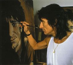 Ron Wood and Self-Portrait. I gots a personal message on a kikoy from this amazing man.