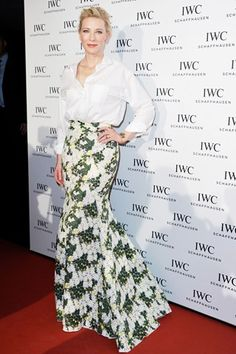Best dressed - Cate Blanchett in a Giambattista Valli skirt and white shirt
