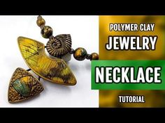 DIY Unusual Polymer Clay Necklace with Faux Labradorite. How to make stylish Necklace! - YouTube