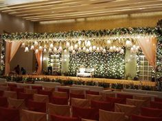 Best information for wedding decorations ideas -> It can save you a large amount of money by getting your wedding event dress over the web, but purcha… - Moyiki Sites Reception Stage Decor, Wedding Backdrop Design, Desi Wedding Decor, Wedding Stage Design, Wedding Hall Decorations, Luxury Wedding Decor, Wedding Reception Backdrop, Flower Decorations, Wedding Gate