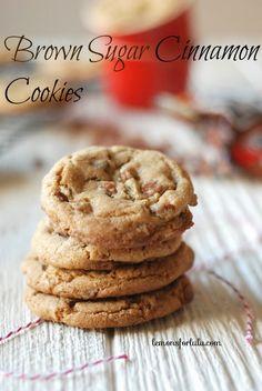 Soft and chewy brown sugar cookies with cinnamon chips! www.lemonsforlulu.com