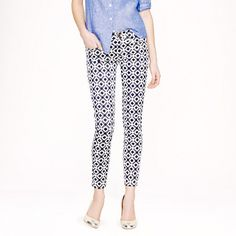 Found my favorite pants that are still available if you want them! 30% off final sale with SHOP30 code. J.Crew - Toothpick jean in geometric print