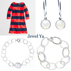 Such a simple July 4th outfit, but oh so cute! www.jewelya.com