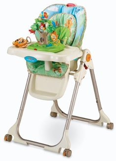 Fisher-Price Rainforest Healthy Care High Chair - http://www.discoverbaby.com/fisher-price/fisher-price-rainforest-healthy-care-high-chair/