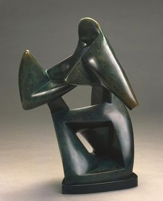 Alexander Archipenko (Ukrainian, 1887–1964, active in France and the United States)  Struggle (La Lutte); also called The Boxers, 1914  Bronze, cast 7/8  24 1/2 x 15 x 18 in. (62.23 x 38.1 x 45.72 cm)  Purchase, Virginia Booth Vogel Acquisition Fund M1983.189   Photo credit Larry Sanders  © 2008 Estate of Alexander Archipenko / Artists Rights Society (ARS), New York