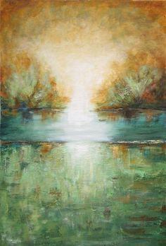 Large landscape abstract  textured painting modern contemporary art   Lauren Marems made to order