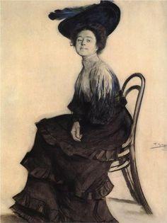 Portrait of E.A. Polevitskaya - Boris Kustodiev (1905)