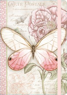 Pink Butterfly Deluxe Journal.  Lang Journals -- my fave for devotional notebooks.  With postage theme :-)