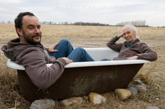 Dave Matthews and Jane Goodall. In a bathtub. This makes me happy.