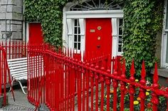 Red Fence and door