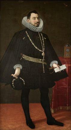 """Antonio RIZI o RICCI, """"Retrato de Juan de Ciriza, Marqués de Montejaso, Caballero de la Orden de Santiago, Secretario del Rey de las Españas y de las Indias""""; óleo sobre lienzo, 1617."""