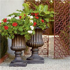 Mediterranean homes – Mediterranean Home Decor Urn Planters, Outdoor Planters, Indoor Outdoor, Planter Ideas, Cheap Planters, Porch Planter, Galvanized Planters, Resin Planters, Square Planters