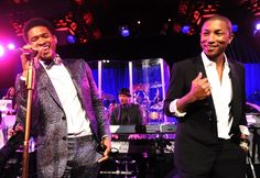 Soul brothers Usher and Pharrell Williams cut a rug onstage during a performance at Gabrielle's Angel Foundation Angel Ball on Oct. 29 in New York