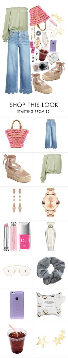 """Smokin' Hot: Summer Date Night"" by shudenbaun ❤ liked on Polyvore featuring Mystique, RED Valentino, Tory Burch, Sans Souci, Fernando Jorge, Movado, Christian Dior, Victoria's Secret, Ahlem and Topshop"