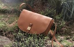 """Mulberry Over-The-Shoulder Tanned Leather """"Tessie"""" Bag for the Modern Gladiator"""