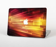 """The Neon Orange 3D Rectangles Skin Set for the Apple MacBook Pro 15"""" with Retina Display from Design Skinz"""