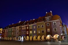 Poland - Poznan, Old Market Square - It was worth standing 1,5 hours in cold to see this beautiful navy blue sky.