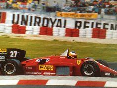 Michele Alboreto su Ferrari 156/85 1985