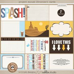 Project Mouse (Frontier): Journal Cards by Britt-ish Designs and Sahlin Studio - Perfect for documenting your Disney Frontierland memories, scrapbooking or using in your Project Life albums.