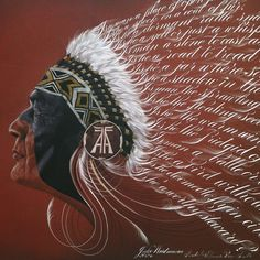 A combination of #illustration & #calligraphy #Arapaho warrior. http://jakeweidmann.com/shop/steward