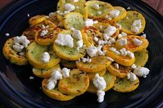 Baked zucchini with cheese and rosemary!