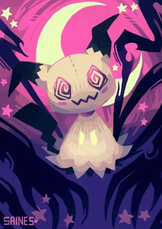 ☆☆☆ Everyone's playing Pokemon Go but I'm over here loosing my mind over Mimikkyu! The adorable spooky pokemon that disguises itself as pikachu so it can make friends! Too cute!