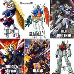 """Dude she's way outta your league man"" #gunpla #Gundam #memes #lol #tz117funnies"